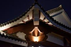 Klassische Gesims-Ruzi Pavillon-Parknacht Stockbilder