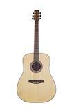 Klassische Gitarre auf weißem Hintergrund Stockbilder