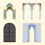 Klassische Illustration des Bogenvektorarchitekturbaurahmenspalteneingangs-Designs Lizenzfreie Stockfotografie