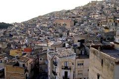 Klassische Italien-- Caltabelotta Stadt in Sizilien Stockfotos
