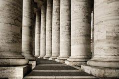 Klassische italienische Spalten Stockfotos