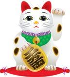 Klassische japanische glückliche Katze Lizenzfreie Stockfotografie