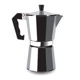 Klassische Kaffeemaschine für Espresso Auch im corel abgehobenen Betrag Lizenzfreies Stockfoto