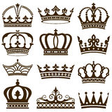 Klassische Kronen Stockfoto