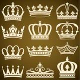 Klassische Kronen Stockbild