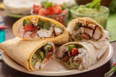 Klassische mexikanische Burritos Stockfoto