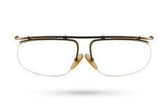 Klassische Modebrillenart lokalisiert auf weißem Hintergrund Lizenzfreies Stockfoto