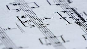 Klassische Musik-Blatt stock video