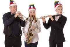 Klassische Musik des Musikerspiels für Weihnachten stockfotografie