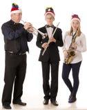 Klassische Musik des Musikerspiels für Weihnachten lizenzfreie stockfotografie