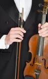 Klassische Musik, Violine, Violinist, Konzept für Th Lizenzfreies Stockfoto