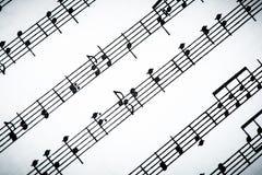 Klassische Noten stockbilder