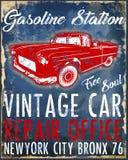 Klassische Retro- Grafik T-Shirt Mann der alten amerikanischen Auto-Weinlese Lizenzfreie Stockfotografie