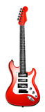 Klassische rote elektrische Gitarre Stockfotografie