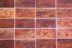 Klassische rote Fliesenwandbeschaffenheit für Innenraum und Design Lizenzfreie Stockfotos