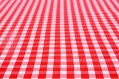 Klassische rote Tischdecke Stockfotografie
