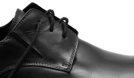 Klassische Schuhe der schwarzen Männer stockfoto
