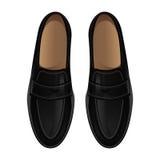 Klassische schwarze Schuhe Lizenzfreie Stockbilder