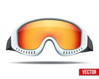 Klassische Snowboardskischutzbrillen mit buntem Glas Lizenzfreie Stockfotos