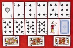 Klassische Spielkarten - Spaten Stockbilder