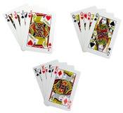 Klassische Spielkarten - vierfache Leitungen Stockbild