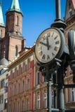 Klassische städtische Uhr Lizenzfreies Stockfoto