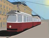 Klassische Straßenbahn Stockfoto