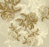 Klassische Tapete mit einem Blumenmuster. Stockfoto