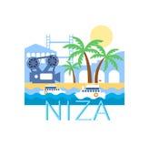 Klassische Toristic Landschaft Niza Stockfotografie