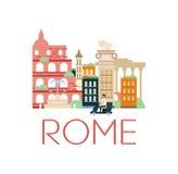 Klassische Toristic Landschaft Roms Lizenzfreies Stockfoto