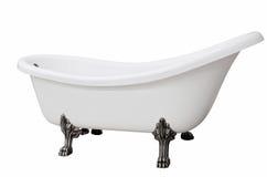 Klassische weiße Badewanne mit den Fahrwerkbeinen Lizenzfreies Stockfoto
