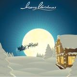 Klassische Weihnachtskarte lizenzfreie stockfotografie