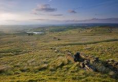 Klassische Yorkshire-Heidemooransicht Stockfoto