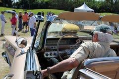 Klassischer amerikanischer Autoinnenraum Stockbilder