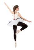 Klassischer ballett Tänzer im Punkt Lizenzfreie Stockfotos