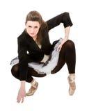 Klassischer ballett Tänzer im Punkt Stockbilder