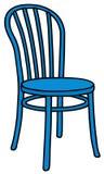 Klassischer blauer Holzstuhl Lizenzfreie Stockfotografie