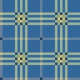Klassischer blauer Tartan Stockbild