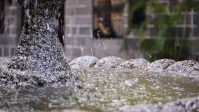 Klassischer Brunnen stock video footage