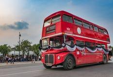 Klassischer Bus-kostenloser Service Stockbild
