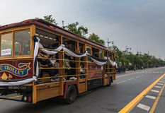 Klassischer Bus-kostenloser Service Lizenzfreie Stockfotografie