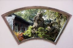 Klassischer chinesischer Garten stockfotografie