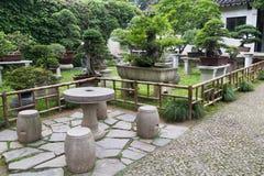 Klassischer Garten in Suzhou, China lizenzfreies stockbild