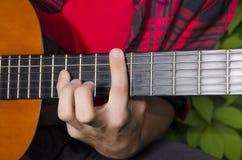 Klassischer Gitarrenakkord Stockbild