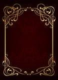 Klassischer goldener Luxusrahmen Lizenzfreies Stockfoto