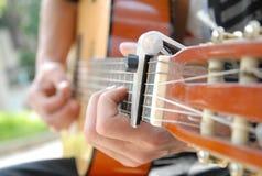 Klassischer Guitare-Spieler stockfotos
