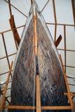 Klassischer hölzerner Segelboot-Rumpf lizenzfreie stockfotos