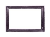 Klassischer Holzrahmen getrennt auf Weiß Lizenzfreie Stockfotos