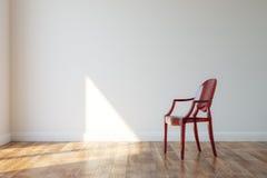 Klassischer Holzstuhl im modernen Art-Innenraum Stockfoto