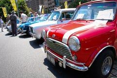 Klassischer Mini Cooper vom Miniautoclub von NSW in den Oldtimershows an Australien-Tag 2013 Lizenzfreie Stockfotos